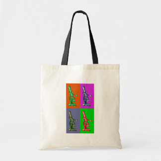 Microscope Pop Art Tote Bag