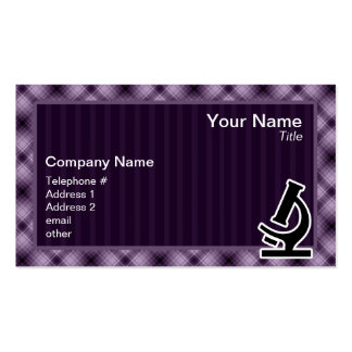 Microscope; Purple Pack Of Standard Business Cards