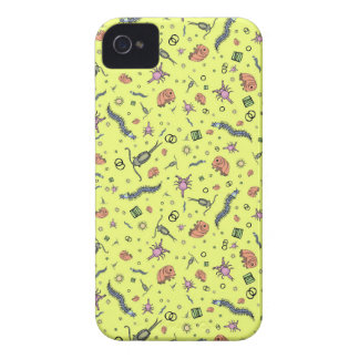 Microscopic Animals in Yellow Case-Mate iPhone 4 Case