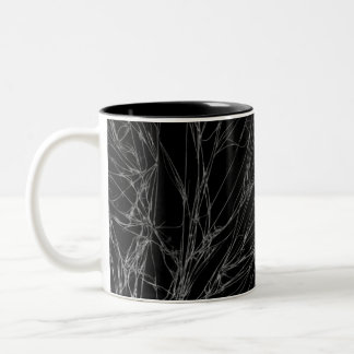 Microscopic Fibrous Crystals of Purified Caffein Two-Tone Coffee Mug
