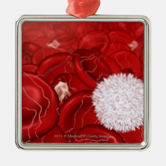 Microscopic look at blood cells christmas ornament