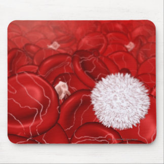 Microscopic look at blood cells mouse pad