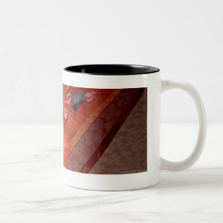 Microscopic rendering of a blood infection mugs