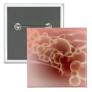 Microscopic view of latex microspheres 15 cm square badge