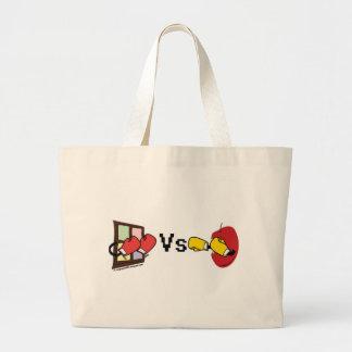 Microsoft Windows Vs Apple Mac boxing fight Large Tote Bag