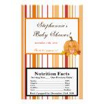 Microwave Popcorn Wrapper Autumn Fall Pumpkin Baby 14 Cm X 21.5 Cm Flyer