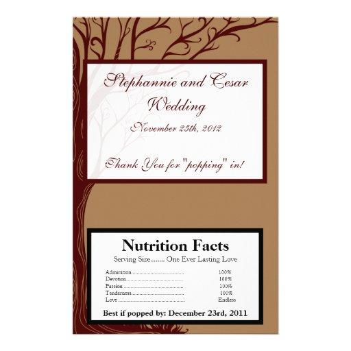 Microwave Popcorn Wrapper Autumn Tree Flyer