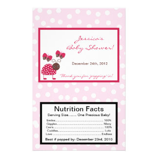 Microwave Popcorn Wrapper Berry Garden Lady Bug 14 Cm X 21.5 Cm Flyer