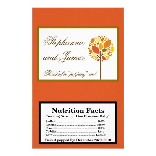 Microwave Popcorn Wrapper Modern Autumn Tree Fall Flyer Design