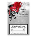Microwave Popcorn Wrapper Red on Silver Masquerade Personalized Flyer