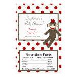 Microwave Popcorn Wrapper Red Sock Monkey 14 Cm X 21.5 Cm Flyer