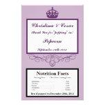 Microwave Popcorn Wrapper Royal Purple Crown/Swirl 14 Cm X 21.5 Cm Flyer
