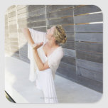 Mid adult woman practicing yoga sticker