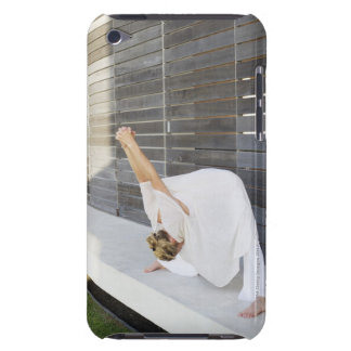 Mid adult woman stretching her arms Case-Mate iPod touch case