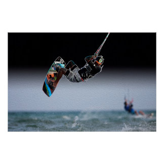 Mid-air Kiteboarding Poster