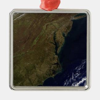 Mid-Atlantic United States Silver-Colored Square Decoration