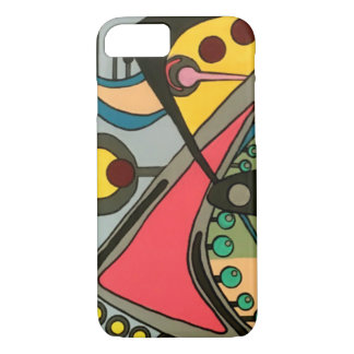Mid-Century Abstract Talking Man painting on a iPhone 8/7 Case