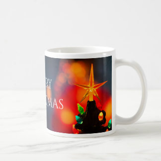Mid Century Ceramic Christmas Tree Star Coffee Mug