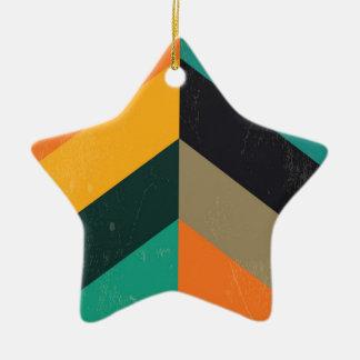 Mid Century Chevron Christmas Ornament