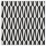 Mid-Century geometric, black and white Fabric