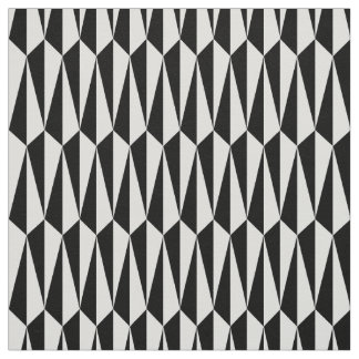 Mid-Century geometric, black and white Fabric