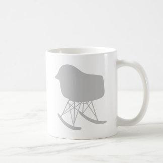 Mid-Century Gray Pattern Chair Silhouette Coffee Mug