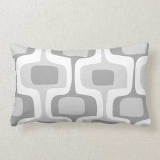 Mid-Century Gray Yellow Connect Box Retro Pattern Cushions