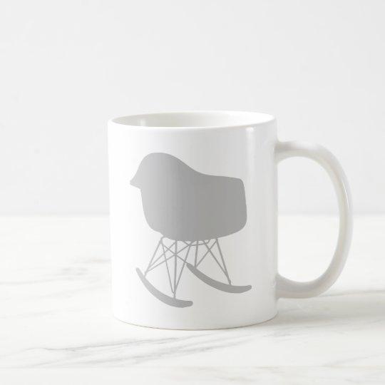 Mid-Century Grey Pattern Chair Silhouette Coffee Mug