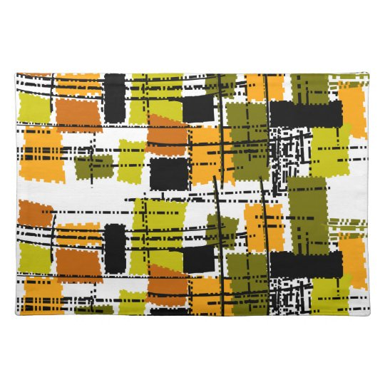 Mid-Century Inspired Lamps Placemat