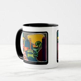 'Mid Century Mod Cocktails' painting on a Mug