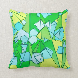 Mid-Century Modern Abstact, Lime Green and Yellow Throw Pillow
