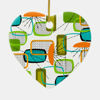 Mid-Century Modern Abstract #57 Christmas Ornament