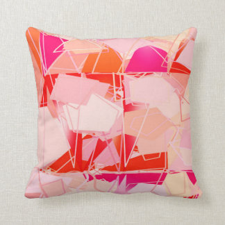 Mid-Century Modern Abstract, Coral Pink & Fuchsia Cushion