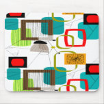 Mid-Century Modern Abstract Design Mouse Mat