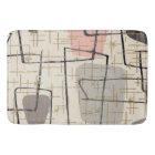 Mid Century Modern Abstract Fabric Bath Mat