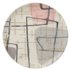 Mid Century Modern Abstract Melamine Plate