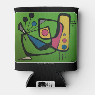 'Mid Century Modern Abstract num 4' on a Can Cooler