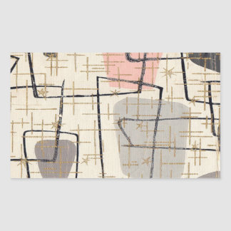 Mid Century Modern Abstract Stickers