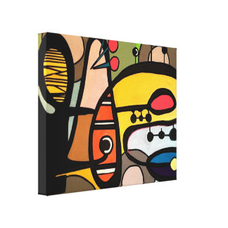 'Mid-Century Modern Abstract the Machine' painting Canvas Print