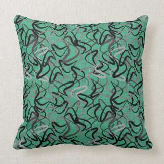 Mid-Century Modern Aqua Boomerang Patterns | Retro Cushion