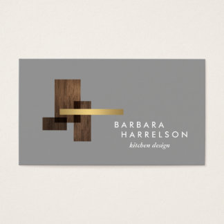 Mid-Century Modern Architectural Logo II on LtGray Business Card
