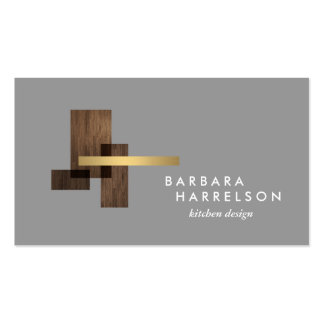Mid-Century Modern Architectural Logo II on LtGray Pack Of Standard Business Cards