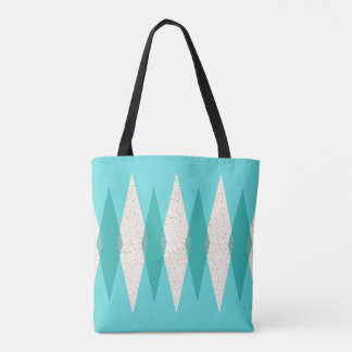 Mid Century Modern Argyle All Over Print Tote Bag