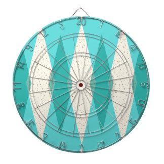Mid Century Modern Argyle Dart Board