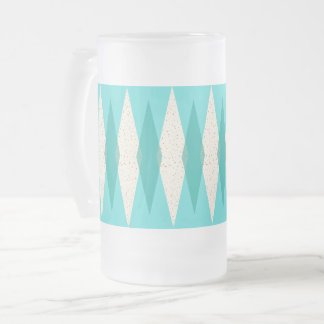 Mid Century Modern Argyle Frosted Mug