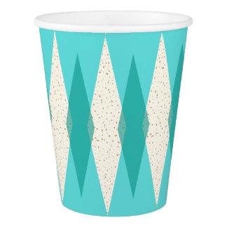 Mid Century Modern Argyle Paper Cups