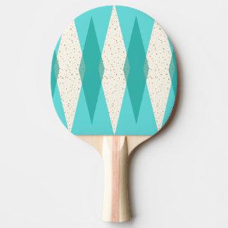 Mid Century Modern Argyle Ping Pong Paddle