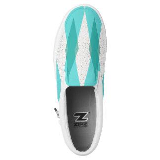 Mid Century Modern Argyle Slip On Shoes
