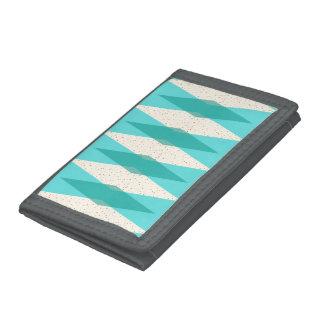 Mid Century Modern Argyle TriFold Nylon Wallet