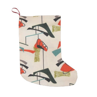 Mid Century Modern Atomic Christmas Stocking